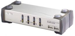 4-Port KVM-Switch USB-Audio 2xUSB2.0 HUB, OSD, Kabelset