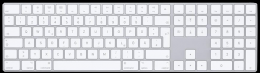 Apple Magic Keyboard mit Ziffernblock – Deutsch – Silber
