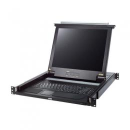 ATEN CL1000M Slideaway-Konsole mit 17-Display, Rackmontage, DE-Layout