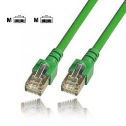 Communik - Cat.5e Patchkabel RJ45, SF/UTP (S-FTP), 1 Meter, Farbe grn, pvc