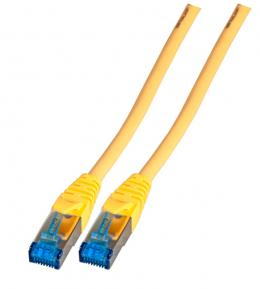 INFRALAN Patchkabel RJ45, S/FTP, Cat.6A, TPE superflex, 10m, gelb