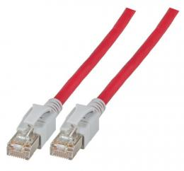 INFRALAN? Patchkabel RJ45, S/FTP, Cat.6A, VC LED, 1m, rot