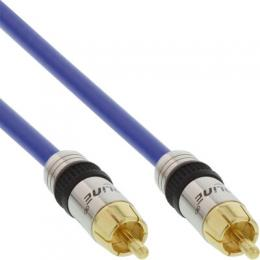 InLine Cinch Kabel VIDEO & digital AUDIO, PREMIUM, vergoldete Stecker, 1x Cinch Stecker / Stecker, 5m