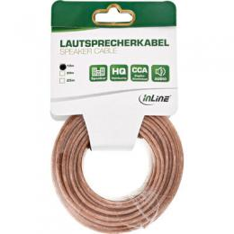 InLine Lautsprecherkabel, 2x 2,5mm², CU, transparent, 10m