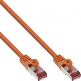 InLine Patchkabel, S/FTP (PiMf), Cat.6, 250MHz, PVC, Kupfer, orange, 1m
