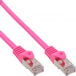 InLine Patchkabel, SF/UTP, Cat.5e, pink, 0,3m