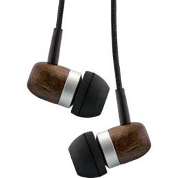 InLine woodin-ear, In-Ear Headset mit Kabelmikrofon und Funktionstaste, Walnu
