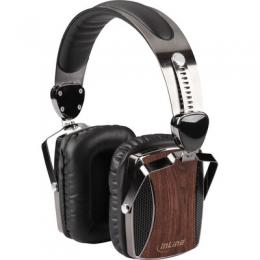 InLine woodon-ear, wooden On-Ear Headset mit Kabelmikrofon und Funktionstaste, Walnu