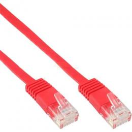 Patchkabel CAT6e U/UTP RJ45  10m rot flach  Retail
