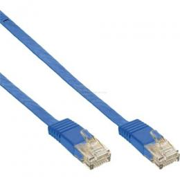 Patchkabel CAT6e U/UTP RJ45   3m blau flach  Retail