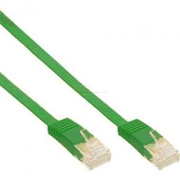 Patchkabel CAT6e U/UTP RJ45   3m grün flach  Retail