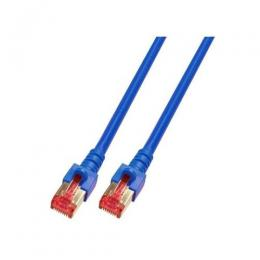 Patchkabel RJ45, S/FTP, Cat.6, LSZH, 0.5m, blau