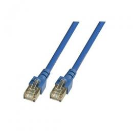 Patchkabel RJ45, SF/UTP, Cat.5e, PVC, CCA, 0.5m, blau