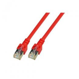 Patchkabel RJ45, SF/UTP, Cat.5e, PVC, CCA, 0.5m, rot