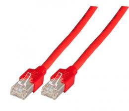 Patchkabel RJ45, SF/UTP, Cat.5e, TM11, UC300, 1m, rot